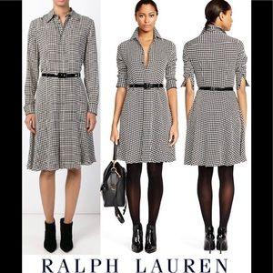Lauren Ralph Lauren Houndstooth Shirt Dress